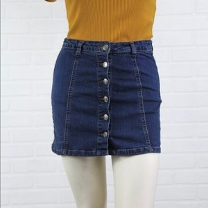 70s style button down mini skirt